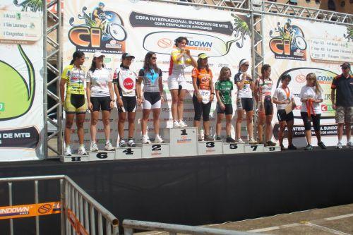 Pódio da Elite Feminina em Araxá 2009